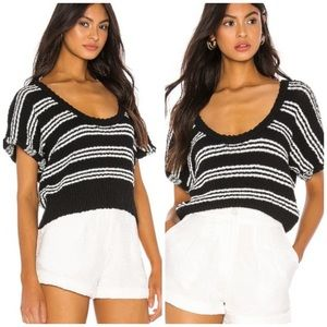 Callahan Knitwear Black Stripe Taylor Crop Sweater